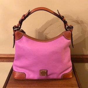 Dooney & Bourke Pink Pebbled Leather Handbag NWOT